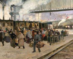 The Gare Saint-Lazare | Louis Abel-Truchet | Oil Painting