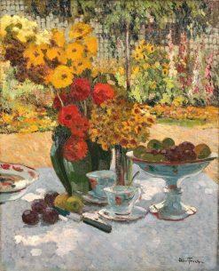 Tea on the Terrace | Louis Abel-Truchet | Oil Painting