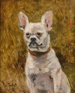 Portrait of a Dog | Louis Abel-Truchet | Oil Painting