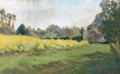 Rapeseed Field | Louis Abel-Truchet | Oil Painting