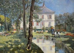 A Manor with Garden | Louis Abel-Truchet | Oil Painting