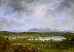 Zurich River Landscape | Johann Ludwig Aberli | Oil Painting