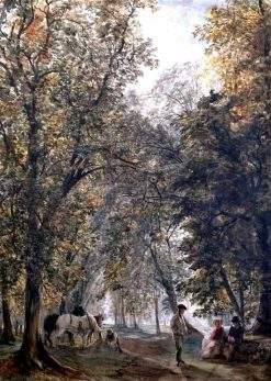 Figures in a Parkland | John Absolon | Oil Painting