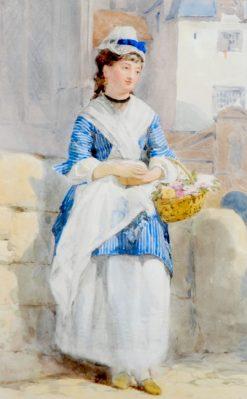 Brittany Flower Seller | John Absolon | Oil Painting