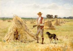 A Farmer and His Dog | John Absolon | Oil Painting