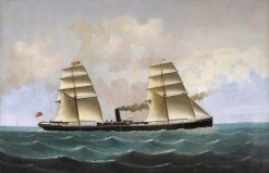 The S. S. Angerton at Sea