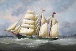 Kaleda' off Le Havre | douard Marie Adam | Oil Painting