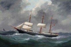 A Portrait of a Ship | douard Marie Adam | Oil Painting