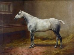White Horse   William Henry Hamilton Trood   Oil Painting