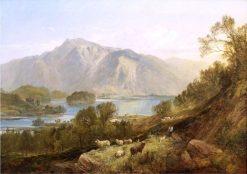 Resting by the Lake | Joseph Denovan Adam | Oil Painting