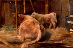 A Highland Mother | Joseph Denovan Adam | Oil Painting