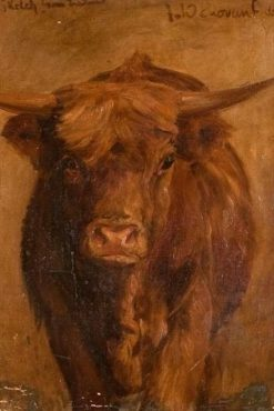 A Highland Cow | Joseph Denovan Adam | Oil Painting