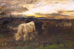 Twixt the Gloamin and the Mirk   Joseph Denovan Adam   Oil Painting