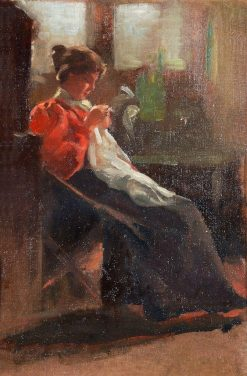 Lady Sewing | Patrick William Adam | Oil Painting