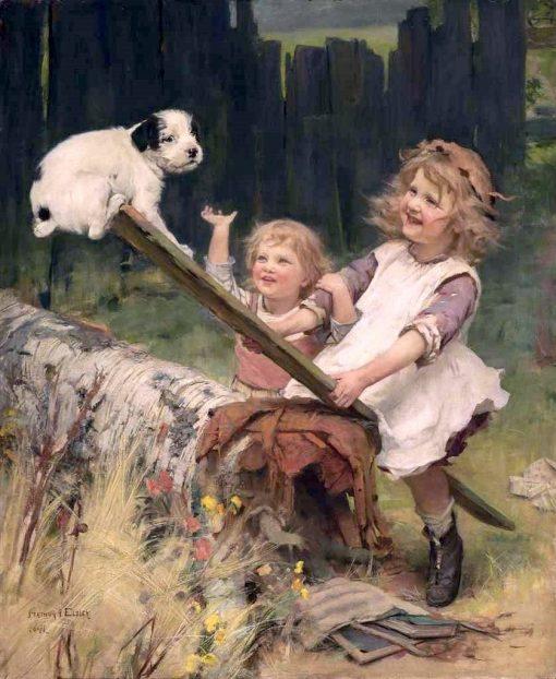 An Unfair Advantage | Arthur John Elsley | Oil Painting