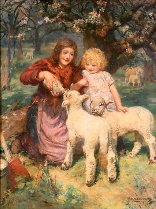 The Foster Mother | Arthur John Elsley | Oil Painting