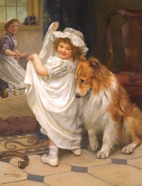 Before the Bath | Arthur John Elsley | Oil Painting