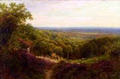 Tending Sheep on Surrey Hills | John Clayton Adams | Oil Painting
