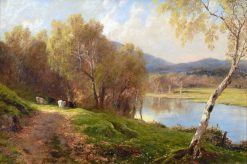 Near a Ford on the Dee | John Clayton Adams | Oil Painting