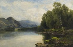 Lake View with Cattle on Shore | John Clayton Adams | Oil Painting