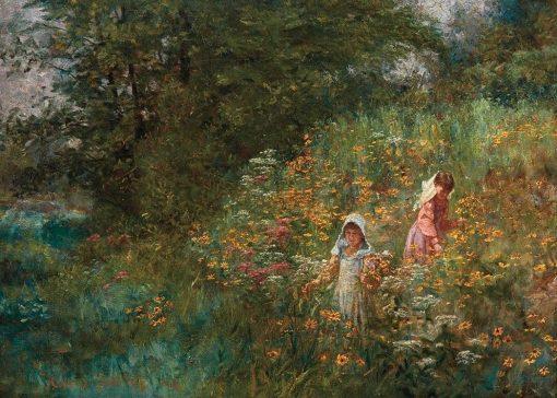 Black-Eyed Susans | John Ottis Adams | Oil Painting