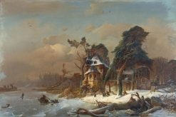 Wintery Ruin of a Monastery | Karl Adloff | Oil Painting