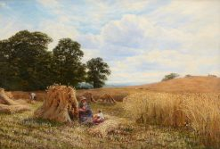 A Hayfield with Figures | George Vicat Cole | Oil Painting