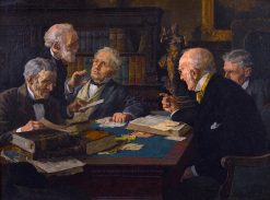 A Heated Debate | Louis Charles Moeller | Oil Painting