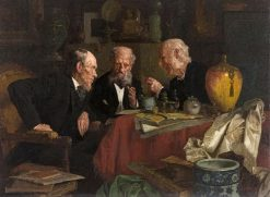 Three Men in an Interior | Louis Charles Moeller | Oil Painting
