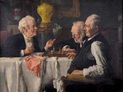 The Chess Game | Louis Charles Moeller | Oil Painting