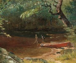Kingfisher at a Stream | Louis Charles Moeller | Oil Painting