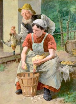 Preparing the Ducks | Louis Charles Moeller | Oil Painting