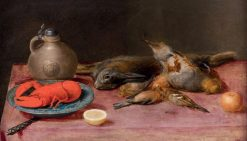 Still Life with Lobster and Birds | Alexander Adriaenssen | Oil Painting