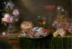 Still Life with a Platter of Crabs and Shrimp | Alexander Adriaenssen | Oil Painting