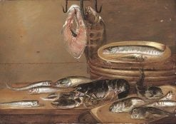 Still Life with Fish and a Lobster on a Table | Alexander Adriaenssen | Oil Painting