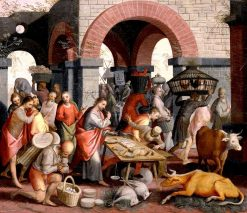 Christ Driving the Merchants from the Temple | Pieter Aertsen | Oil Painting