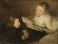 A Nice Tale | Eugène Carrière | Oil Painting