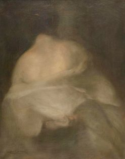 Undressing Woman from Behind | Eugène Carrière | Oil Painting