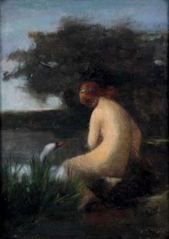 Bather by the Lake | Eugène Carrière | Oil Painting