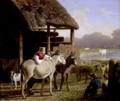 A Visit to the Farm   Jacques-Laurent Agasse   Oil Painting