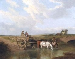 A Landscape with a Car at a Ford