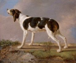 A Hunting Dog | Jacques-Laurent Agasse | Oil Painting