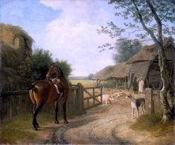 Daniel Beale at His Farm in Edmonton with His Favorite Horse | Jacques-Laurent Agasse | Oil Painting