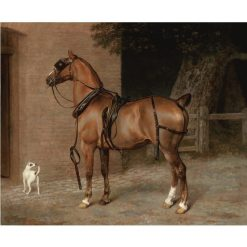 A Liver Chestnut Carriage Horse | Jacques-Laurent Agasse | Oil Painting