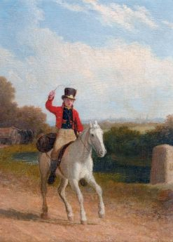 A Boy Riding a Grey Pony   Jacques-Laurent Agasse   Oil Painting