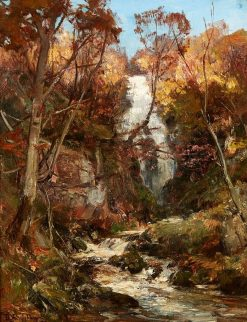 The Grey Mare's Tail near the Clachan of Aberfoyle | David Farquharson | Oil Painting