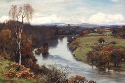 Hoddum Castle - On the Annan   David Farquharson   Oil Painting