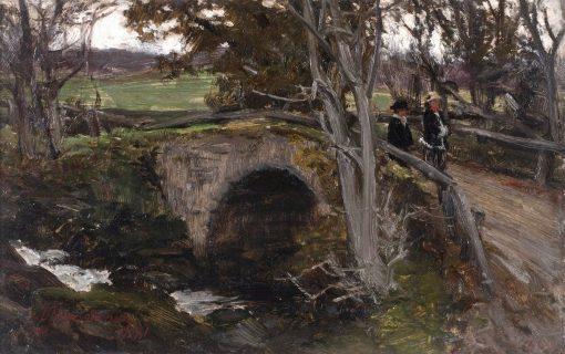 Crossing the Bridge Near Inveraray | David Farquharson | Oil Painting