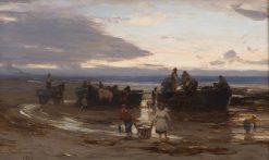 Landing Pilchards   David Farquharson   Oil Painting