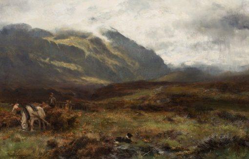 Amongst the Bracken   David Farquharson   Oil Painting